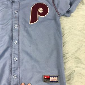 Nike Shirts & Tops - Kids Nike Fit Dry Phillies Jersey Size Small
